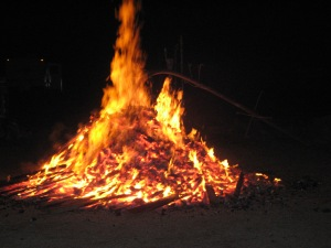 New Year's Eve bonfire 2006