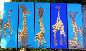 giraffe art work