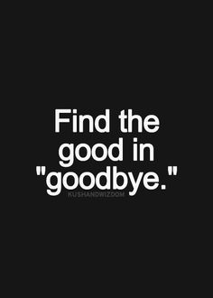 good in good bye